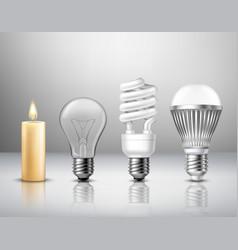 Light evolution concept vector