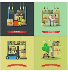 Logistic and delivery service concept banners vector image