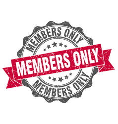 members only stamp sign seal vector image