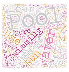 Pool maintenance and care text background vector