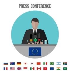 Press conference icon vector image