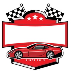racing car badge club vector image vector image