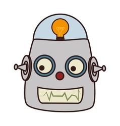 Robot kid toy icon vector
