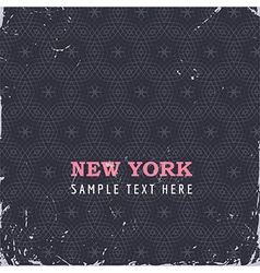 Rustic New York Floral Background vector image