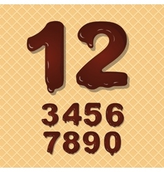 Set of Chocolate numbers set vector image vector image