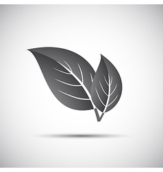 Simple grey of leaves vector image vector image