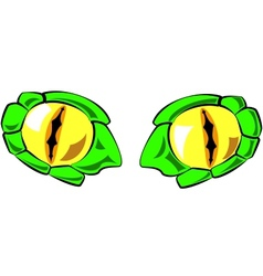 snake eyes - in color vector image