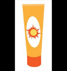 sunscreen cream bottle vector image vector image