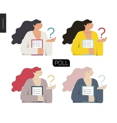 Survey icon in four colors vector image vector image