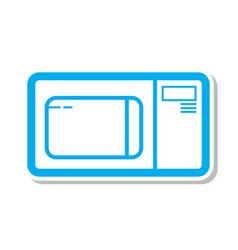 Thin line microwave icon vector