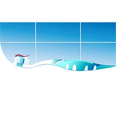 Toothbrush vector image