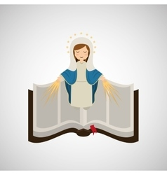 virgin mary immaculate conception bible icon vector image