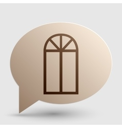 Window simple sign brown gradient icon on bubble vector