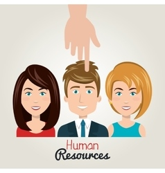 Hand icon human resources choose person vector