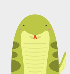 Cute big fat snake vector
