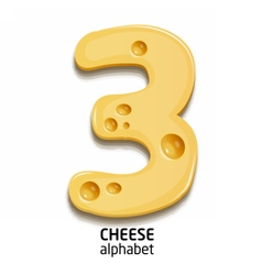 Cheese alphabet element number vector