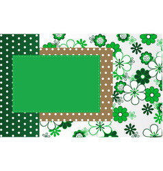Photo frame labels greetings from the tissue vector