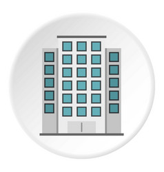 Skyscraper icon circle vector