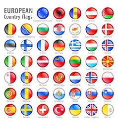 European flag buttons set vector