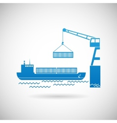 Shipmentl symbol shipping icon design template vector