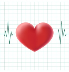 Pulse heart on a screen vector