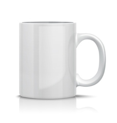 Classic white cup vector