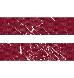 Flag of latvia with old texture vector