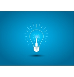 Light bulb idea icon on blue background vector