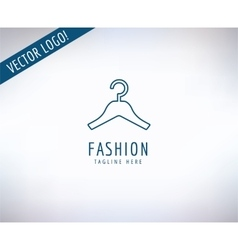 Hanger logo icon style fashion or shop vector