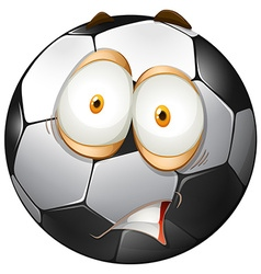 Football with shocking face vector