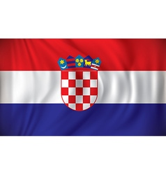 Flag of croatia vector