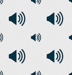 Speaker volume sign icon Sound symbol Seamless vector image