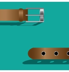 Brown leather belt vector