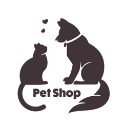 Cat and dog signs and logo vector image