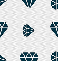 Diamond icon sign seamless pattern with geometric vector