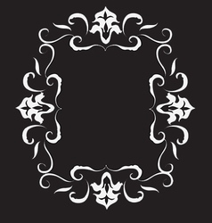 Abstract floral frame in victorian style vector