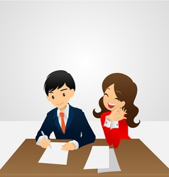 Sign contract vector