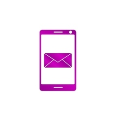 Smartphone email or sms icon mobile mail sign vector
