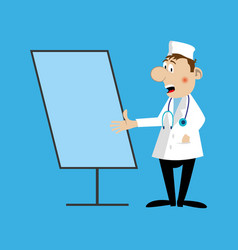 A medical doctor flipchart vector