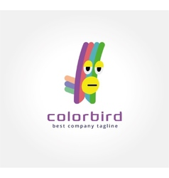 Abstract parrot monster logo icon concept Logotype vector image vector image