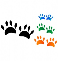 animals paws vector image vector image