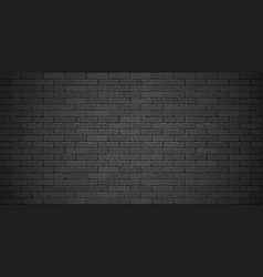 black brick wall texture vector image