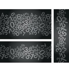 Black number background vector