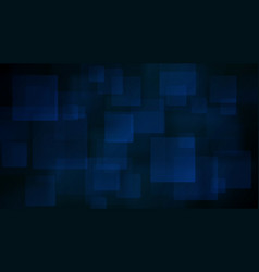 Blue abstract background of blurry squares vector