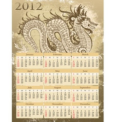 Calendar 2012 grunge vector