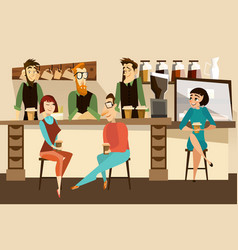 coffee bar concept in flat vector image vector image