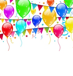 Colourful party balloons confetti with space for vector