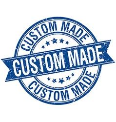Custom made grunge retro blue isolated ribbon vector