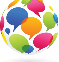 globe of dialog bubble vector image vector image