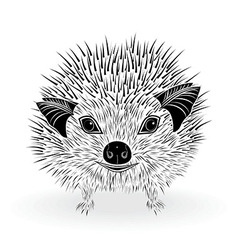 hedgehog head animal for t-shirt vector image vector image